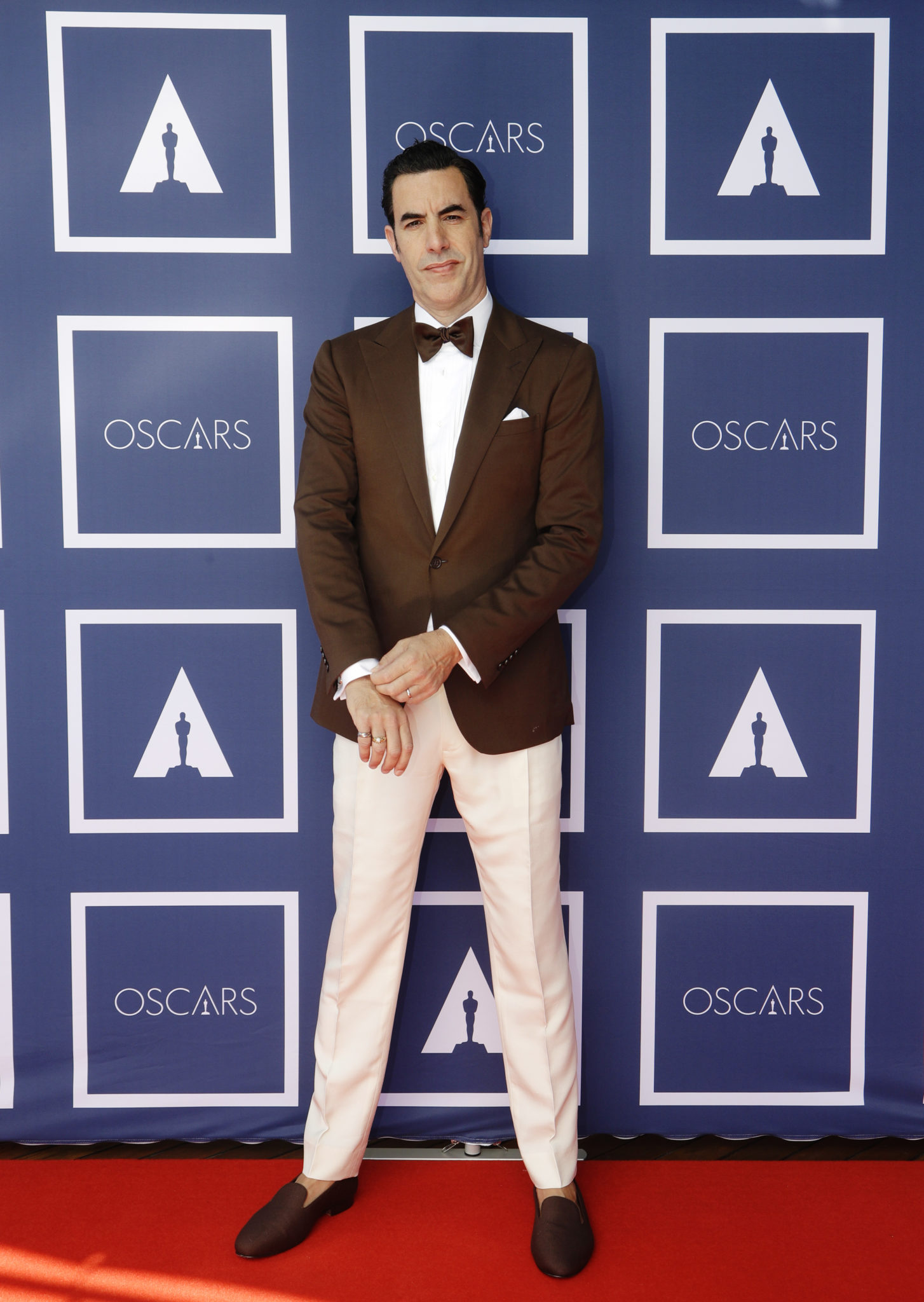 Sacha Baron Cohen at the 93rd Oscars